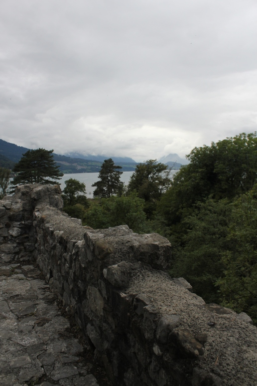 Looking out over Lake Thun from the top of the tower.